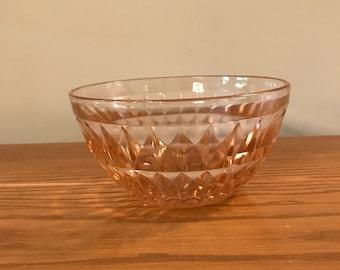 Jeannette Glass Windsor Diamond Pink Cereal Bowl