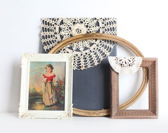 Set of Three Vintage Frames, Unique Frame Collection