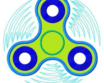 Motif de broderie à la main Spinner APPLIQUE 3 tailles de téléchargement immédiat