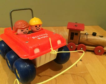 Vintage Fisher Price Bouncing Buggy Car