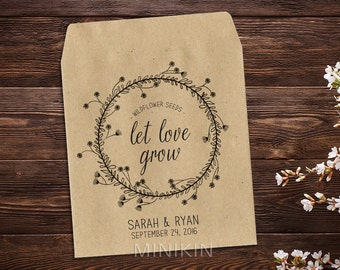 Wedding Favor Seed Packet, Personalized Seed Packet, Seed Favor, Wedding Favor, Bridal Shower, Seed Packet Envelope, Seed Packet x 25