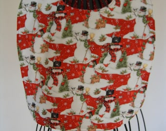 Christmas Reversible Adult Bib/ Clothing Protector