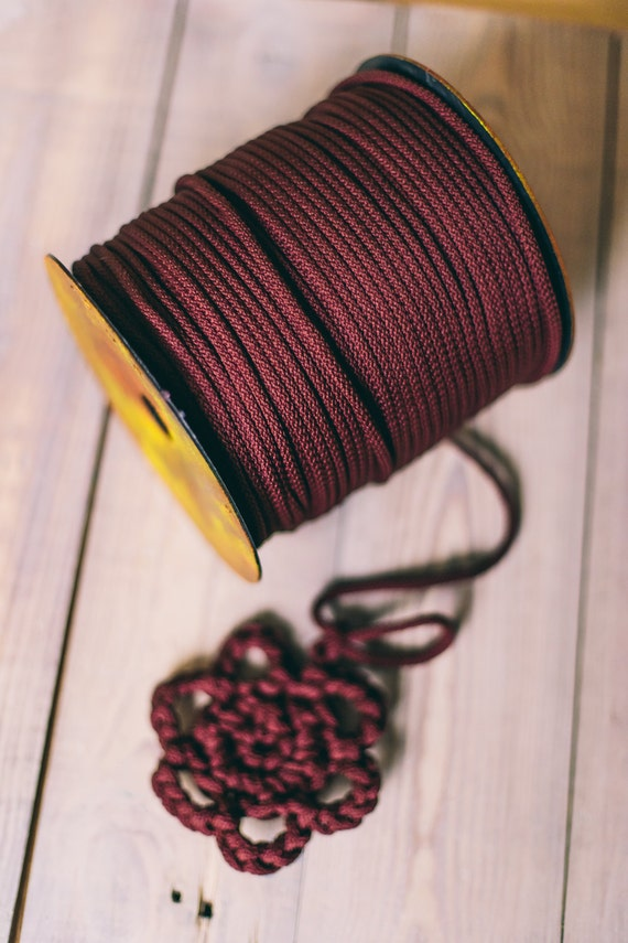 CLARET yarn, claret macrame cord, craft yarn, knitting supplies, knitting yarn, macrame yarn, macrame rope, crochet yarn, claret yarn. #28