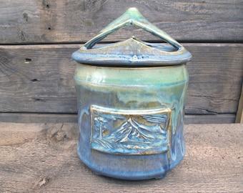 Handmade Stoneware crock/canister