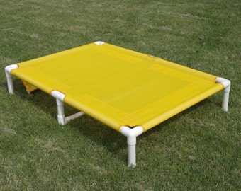 Dog Bed Cot Extra Large 38x55 With Middle Support, X Large Dog Beds, 11 MESH SCREEN Colors, Large To Smaller X Large Dogs Up To 160 Pounds.