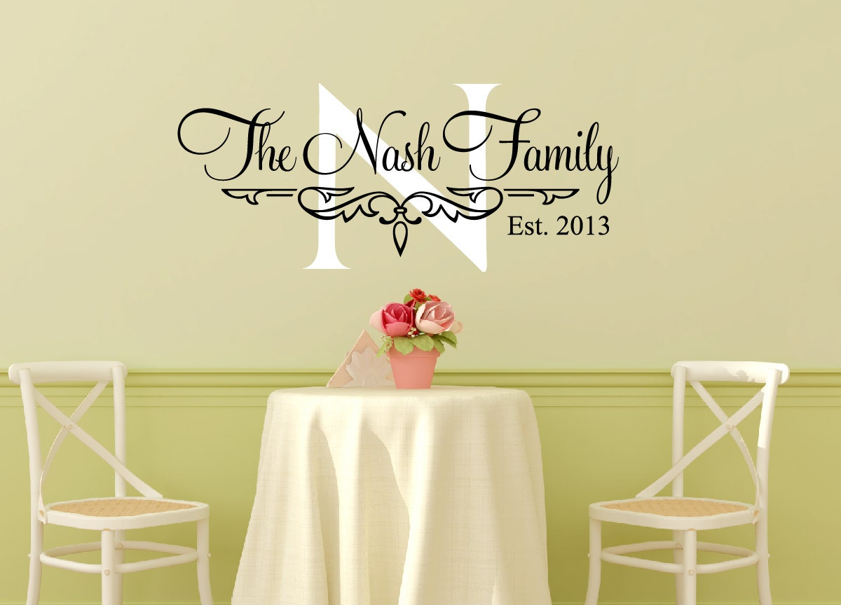 Family Name Wall Decal Personalized Family Wall Decal Family