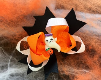 Children's Halloween Ghost Bow
