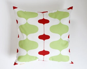 Christmas Pillow Cover Retro Pillow Red Pillow Green Pillow 8 Sizes Available Cushion Cover
