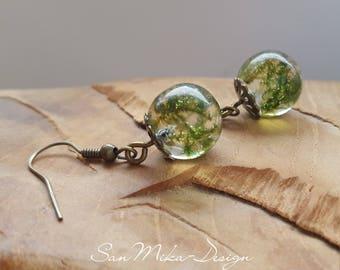 Resin Earrings * forest whispering *