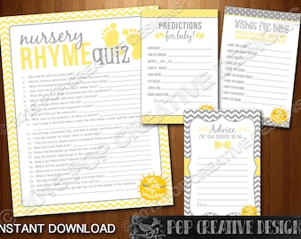 You Are My Sunshine Baby Shower Printable Party Games