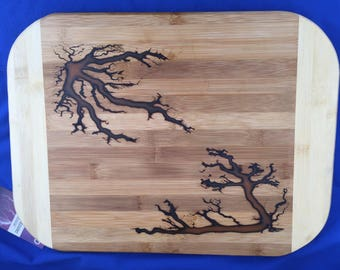 One of a Kind, Custom, Elecrified, Glow in the Dark, Cutting Board or Serving Tray