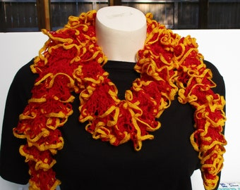 HANDKNITTED LACE SCARF school/ team colors