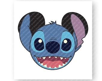 Disney, Stich, Lilo and Stitch, Icon Mickey Mouse Head, Mouse Ears, Digital, Download, TShirt, Cut File, SVG, Iron on, Transfer