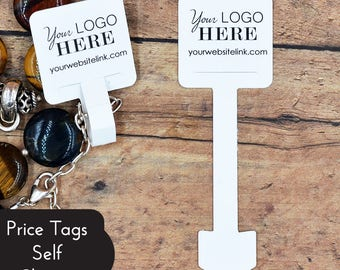 Custom Price Tags - Self Closing - No String Needed - Personalized Custom Printed