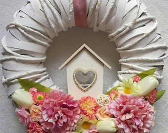 Spring wreath, Mothers day wreath, Spring decorations, Mothers day gift, Spring door wreaths, Spring door wreath, Pastel wreath, home decor