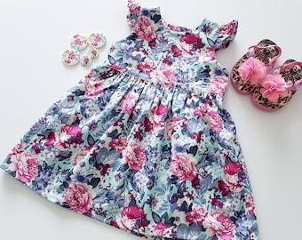 Girls Floral Dress, Party Dress, Flower Dress, Toddler Dress