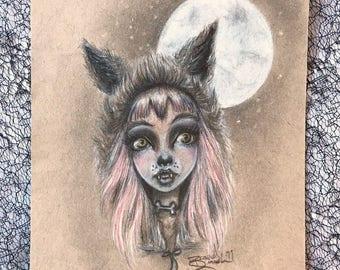 "Original Drawing of ""Full Moon"""