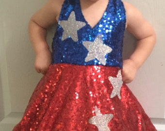 Patriotic wear, pageant OOC, Fourth of July outfit, America outfit, red white blue dress, 4th of July dress