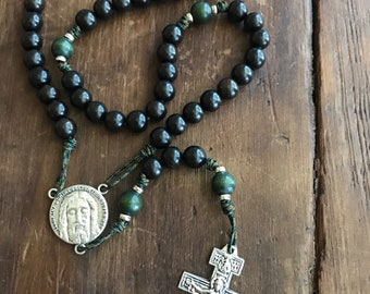 Face of Jesus Rosary with San Damiano Crucifix