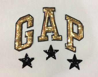 Sequin letters GAP star patch paste jacket jacket back sweater decoration DIY clothing accessories-276