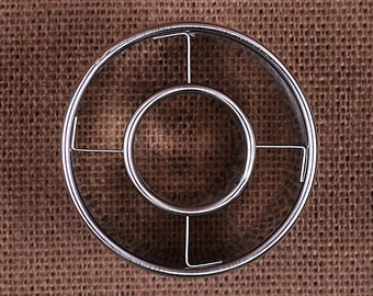 "Donut Cookie Cutter, Doughnut Cookie Cutter, 2.5"" Donut Cutter, Metal Cookie Cutters, Heavy Duty Cookie Cutters, Sugar Cookie Cutters"