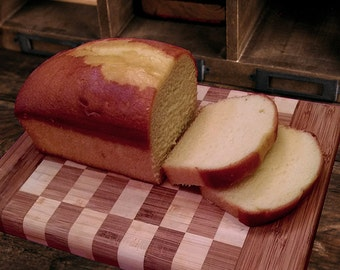 Classic Pound Cake Loaf, buttery and moist.