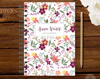 2018 Monthly Planner #7 - Hardcover - Coil Bound - Tabbed - Weekly Planner - Daily Planner