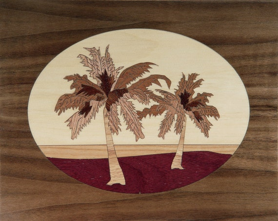 """8""""x 10"""" Marquetry Project Kit - Palms"""