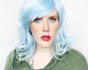 Blue wig | Long Blue wig, Pastel wig | Pastel Blue wig, Ombre wig, Wavy blue wig | Scene wig, Cosplay wig | Sky Mist