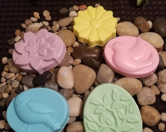 Set Of 5 All Natural Handcrafted Decorative Soaps