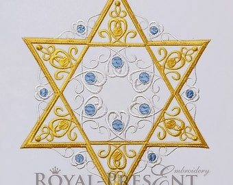 Machine Embroidery Design Star of David