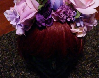 Purple and more Purple Flower Crown