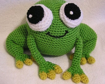 Pdf Crochet Pattern AMIGURUMI  PUDGY FROG (English only)