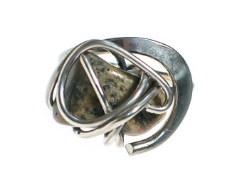 Artisan Made One of Kind Caged Jasper Sterling Silver