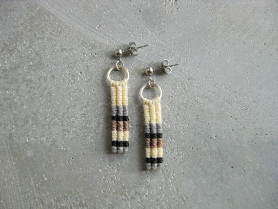 Ypê . Modern Macrame Earrings . © Design by .. raïz ..