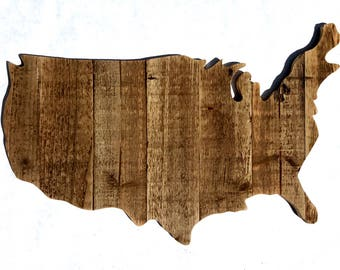 Rustic United States Wall Hanging