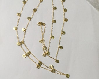 Dangle vermeil necklace