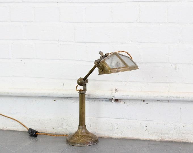 Art Deco Desk Lamp By Pirouette Circa 1920s