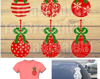 Zentangle Christmas Ornament Digital Cutting Files SVG PNG EPS dxf clipArt iron on heat transfer vinyl decal santa claus christmas ball 733C