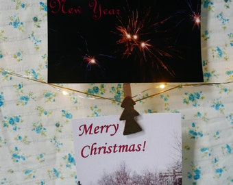 Set of 4 Holiday cards Christmas or New Year's
