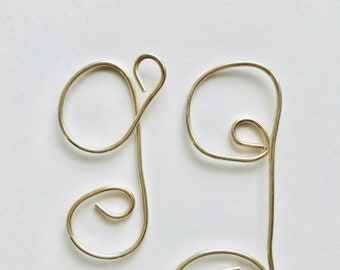 Letter G, capital G, sterling silver, gifts for her, Lilyb444