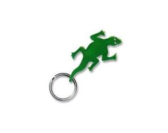 Gecko Keychain & Keyring - Bottle Opener - Green