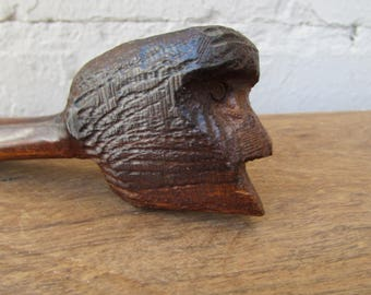 Ironwood Bearded Man  Pipe Carving