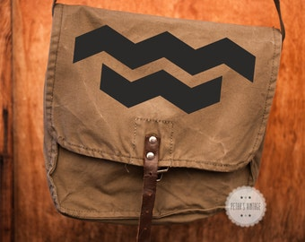 Chevron messenger bag geometrical messenger bag crossbody bag military bag vintage canvas bag army canvas backpack bag for ipad vintage
