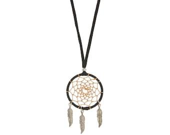 DREAMCATCHER earrings,Black beige earrings-festival jewelry-Boho earrings-Bohemian Gypsy jewelry-Coachella-leather earrings