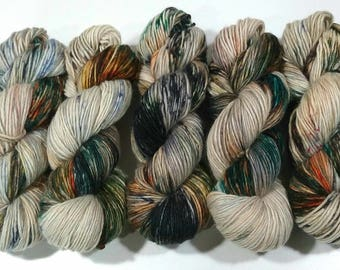 Hand Dyed Yarn: Koi Pond - Willow Base {Merino/Alpaca/Silk, 275yd, 1 ply, DK/Light worsted} Suitable for knitting and crochet
