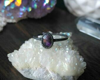 Amethyst Electroformed Ring