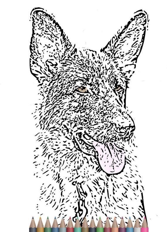 Erwachsenen Malvorlagen Hund Kunstdruck Printable Malvorlagen