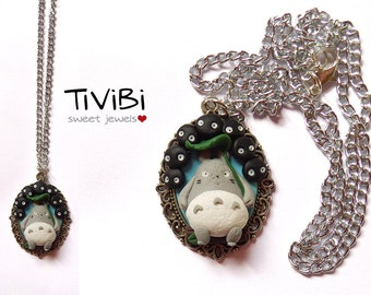 Totoro and soot sprites necklace