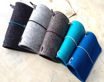 Sleeve made of felt with a MOLESKINE notebook